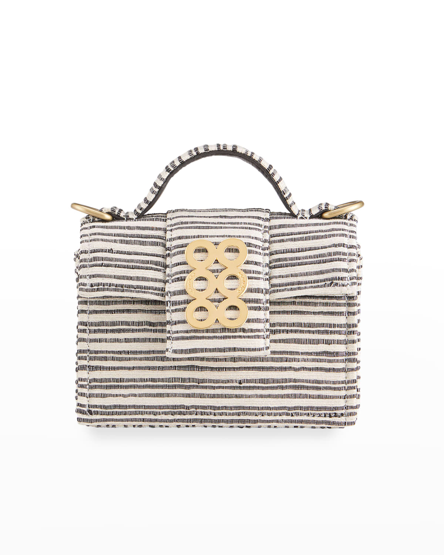 Petite VI Striped Coin Circle Top-Handle Bag