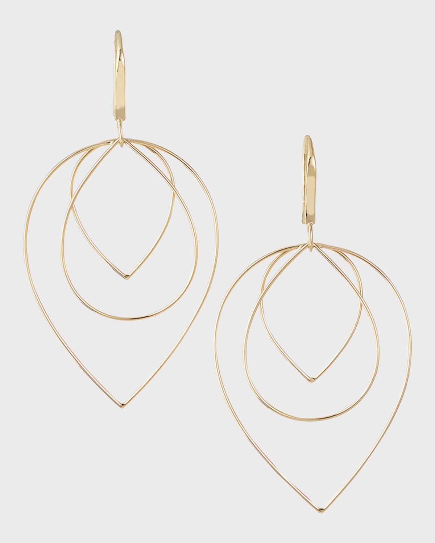 Three Tiered Drop Earrings