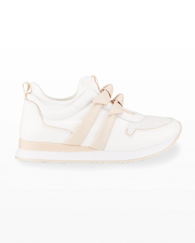 Clarita Bicolor Bow Slip-On Sneakers