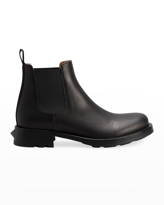 Men's Roman Stud Leather Chelsea Boots
