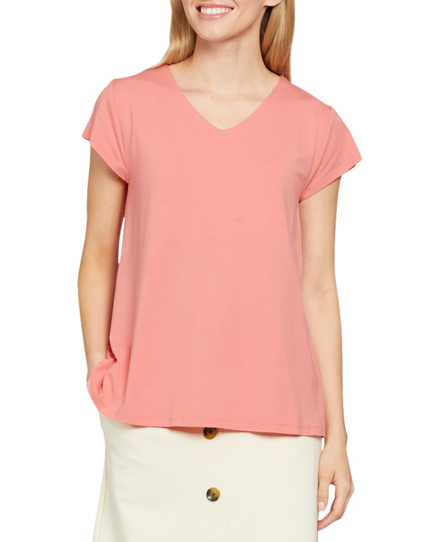 Digna Short-Sleeve Basic Jersey Top