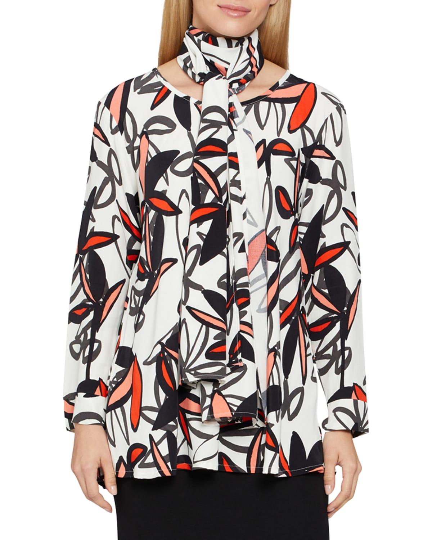 Danita Floral-Print Long-Sleeve Top
