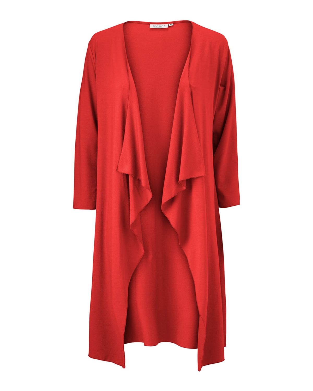 Ibone 3/4-Sleeve Solid Jersey Cardigan