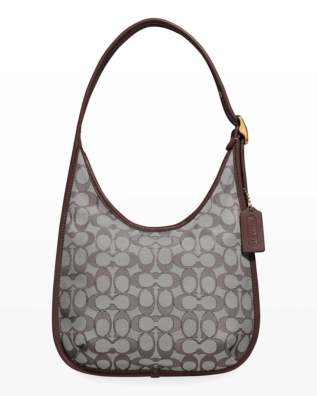 Ergo Signature Jacquard Shoulder Bag