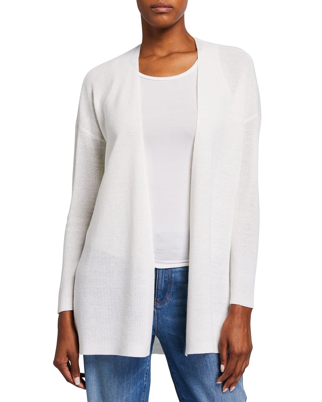 Organic Linen-Cotton Short Boxy Cardigan