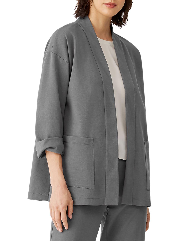 Organic Cotton Ponte High-Collar Jacket