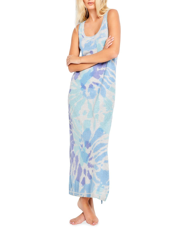 Make A Splash Tie Dye Maxi Tank Dress
