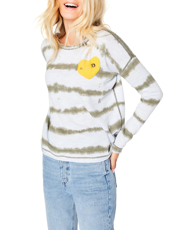 Love Struck Tie-Dye Striped Sweater