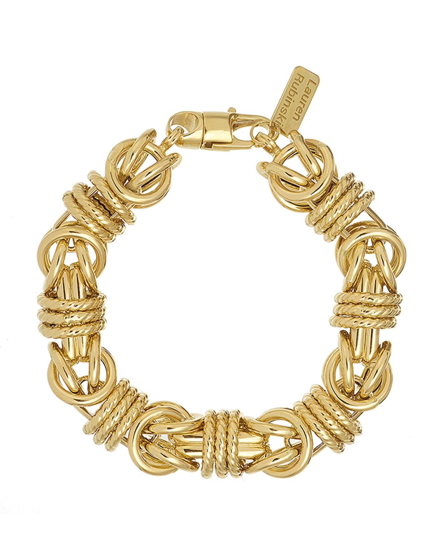 Medium Smooth and Textured Link Bracelet