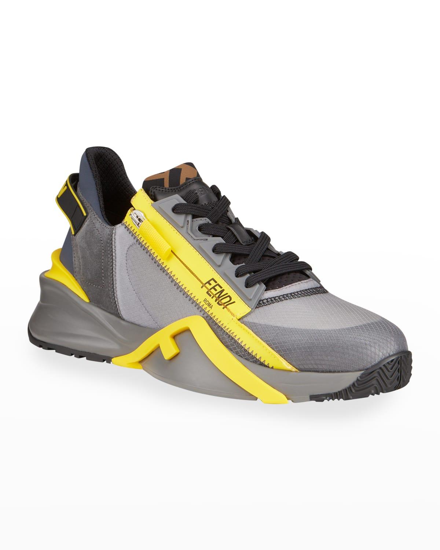 Men's M Zip Mix-Media Runner Sneakers