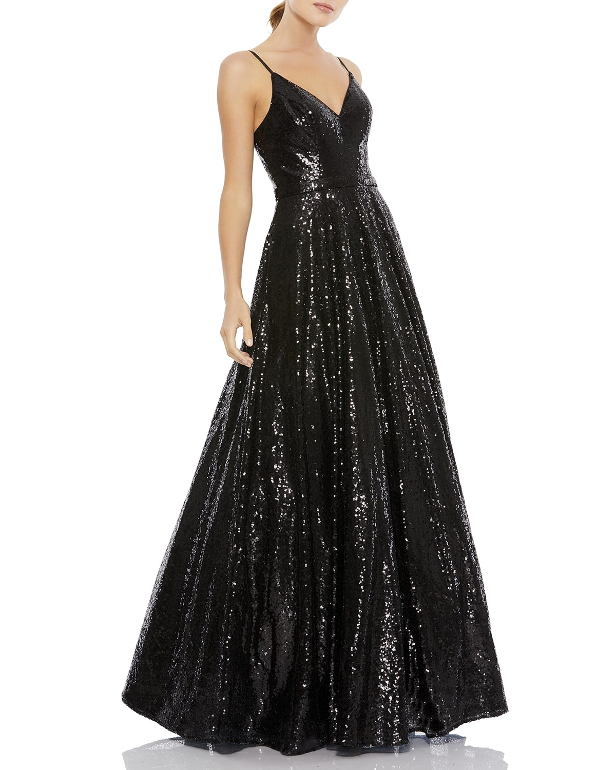 Sequin A-Line Gown