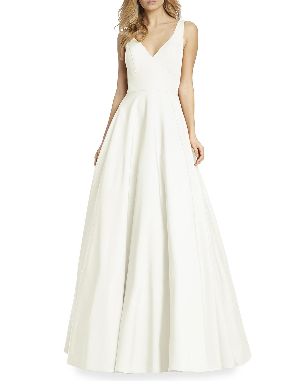 V-Neck Empire Ball Gown