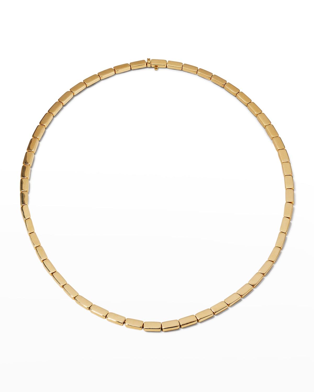 Bunny 18k Gold Link Choker Necklace