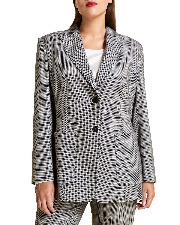 Plus Size Canberra Birdseye Tailored Jacket