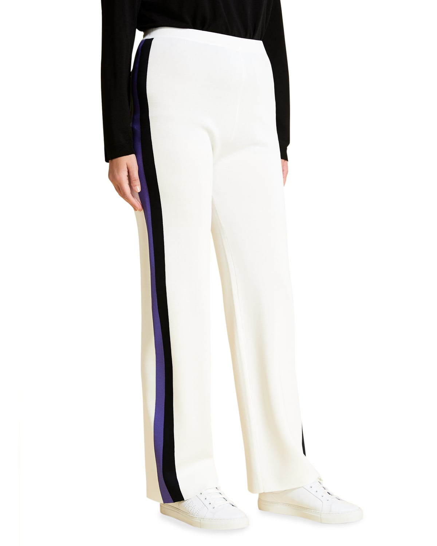 Plus Size Ubicare High-Waist Side-Striped Trousers