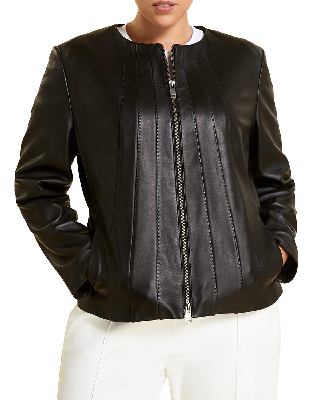 Plus Size Elettra Sheepskin Napa Jacket