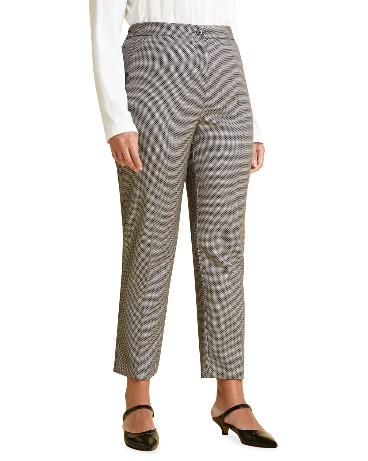 Plus Size Radicale Wool-Silk Cigarette Trousers