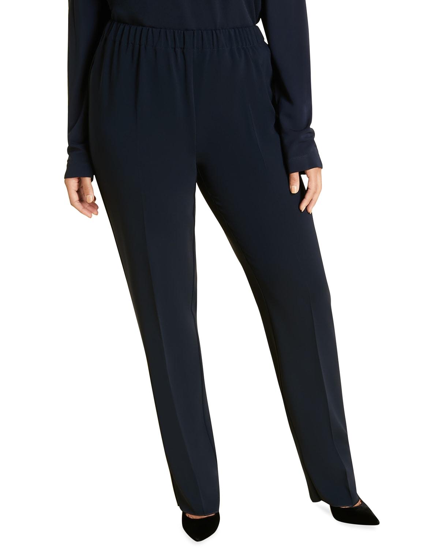 Plus Size Rapsodia Solid Crepe Pants