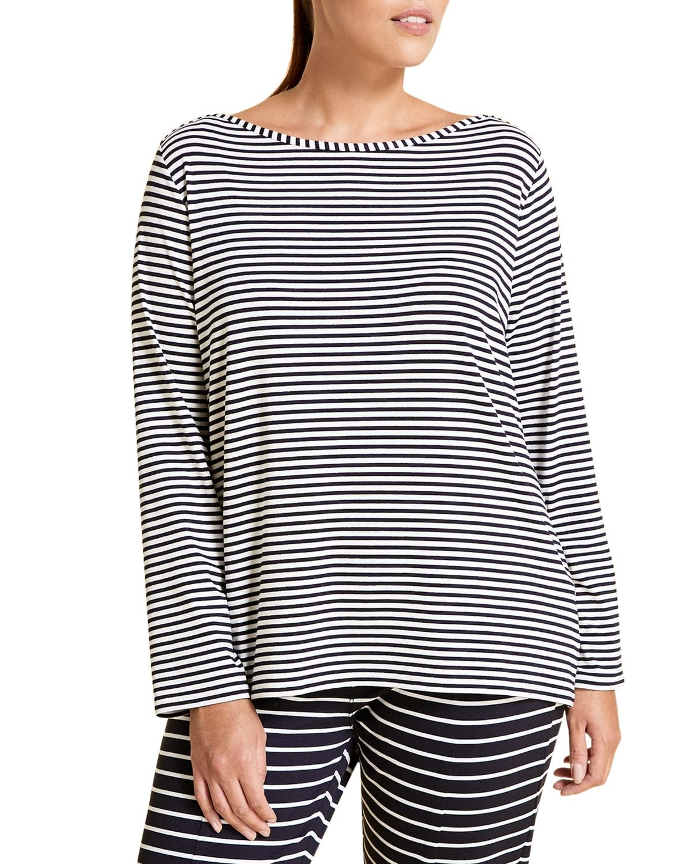 Plus Size Vairone Striped Viscose Jersey T-Shirt