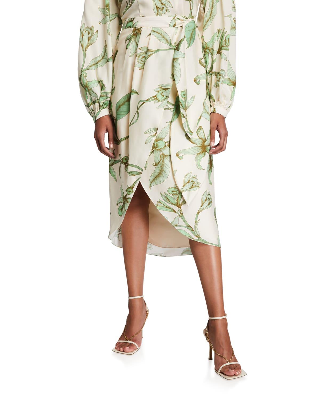 Botanist Guide Wrap Midi Skirt