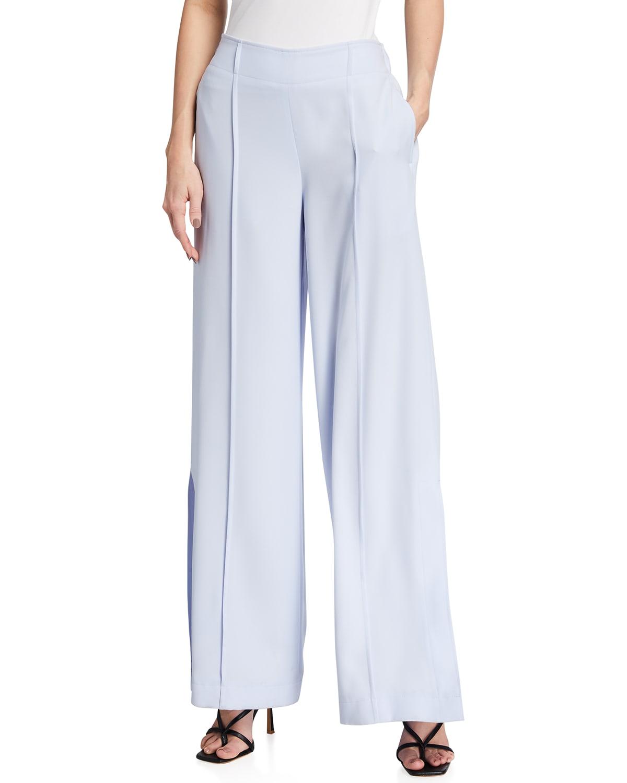Iris Wide-Leg Crepe Pants