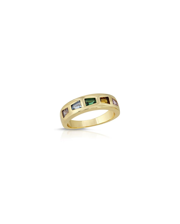 Modern Love CZ Stone Band Ring