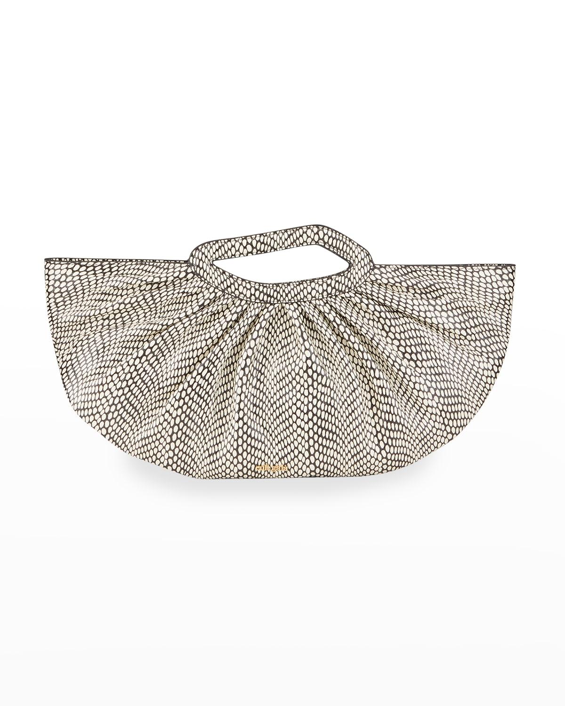 Jada Circle-Print Top-Handle Bag