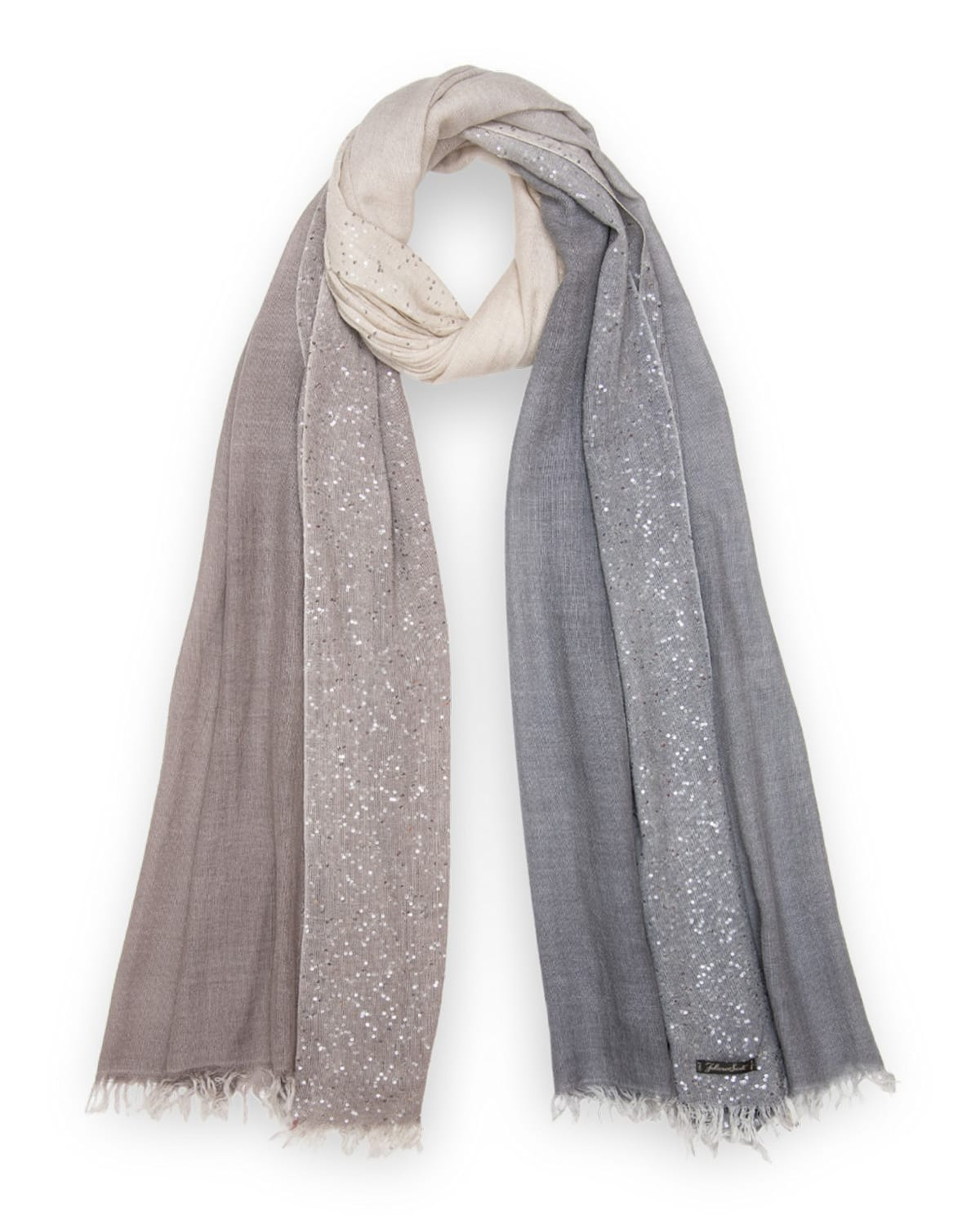Lia Sequined Ombre Silk-Blend Scarf