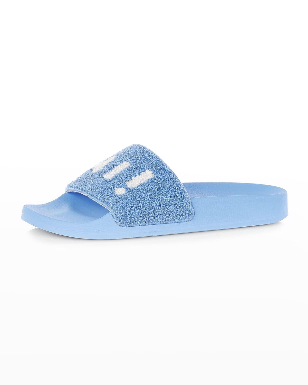 Terry Logo Slide Pool Sandals
