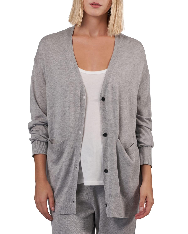 Cashmere-Silk Cardigan with Pockets