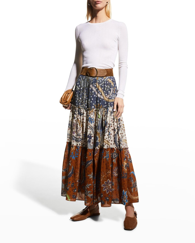 Melanie Fruit-Print Skirt
