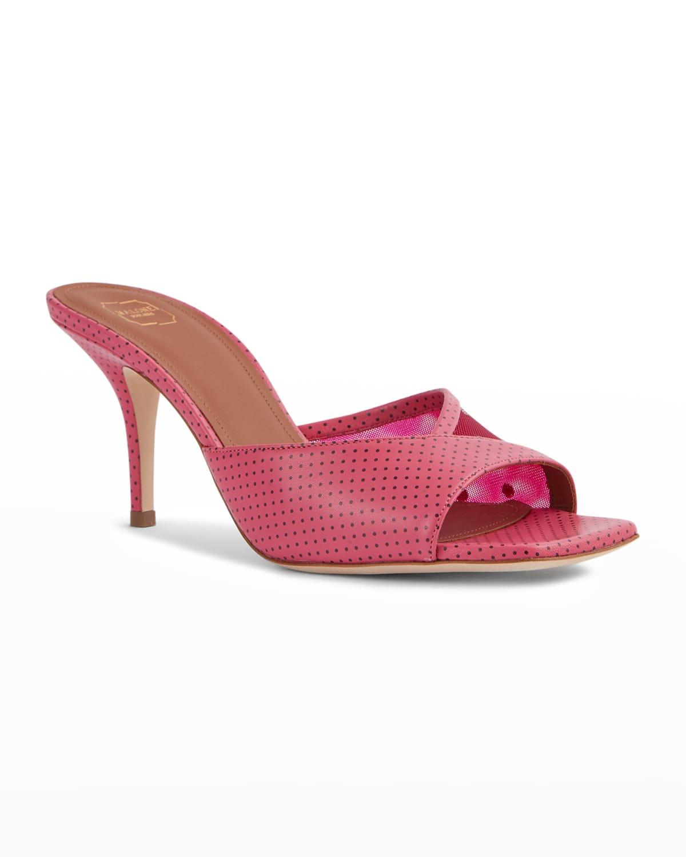 Polka Dot Mule Heel Slide Sandals