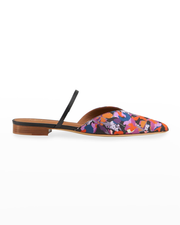 Liberty Floral Flat Slide Mules