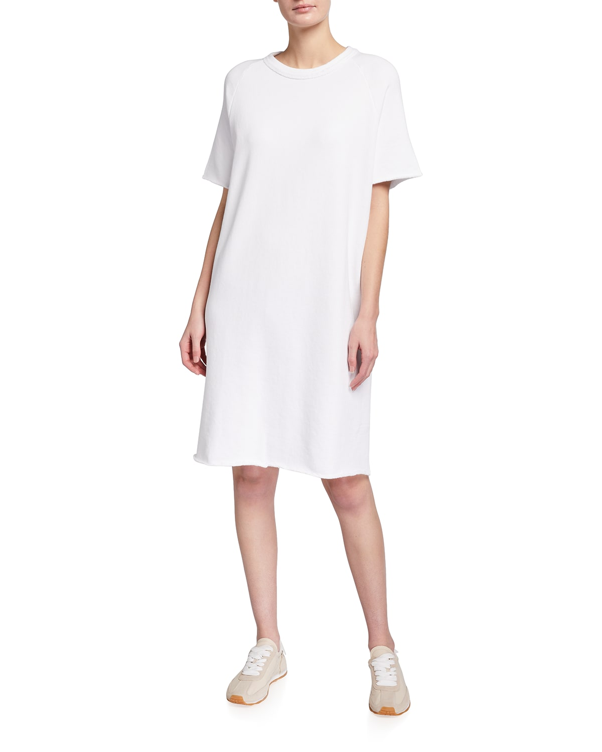 French Terry Organic Cotton Short-Sleeve Dress