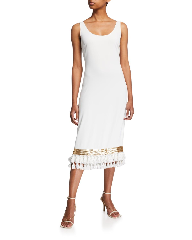 Va Va Voom Tassel-Hem Midi Dress