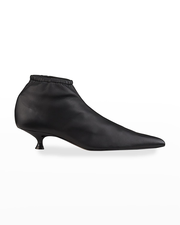 Volos Napa Kitten-Heel Ankle Booties