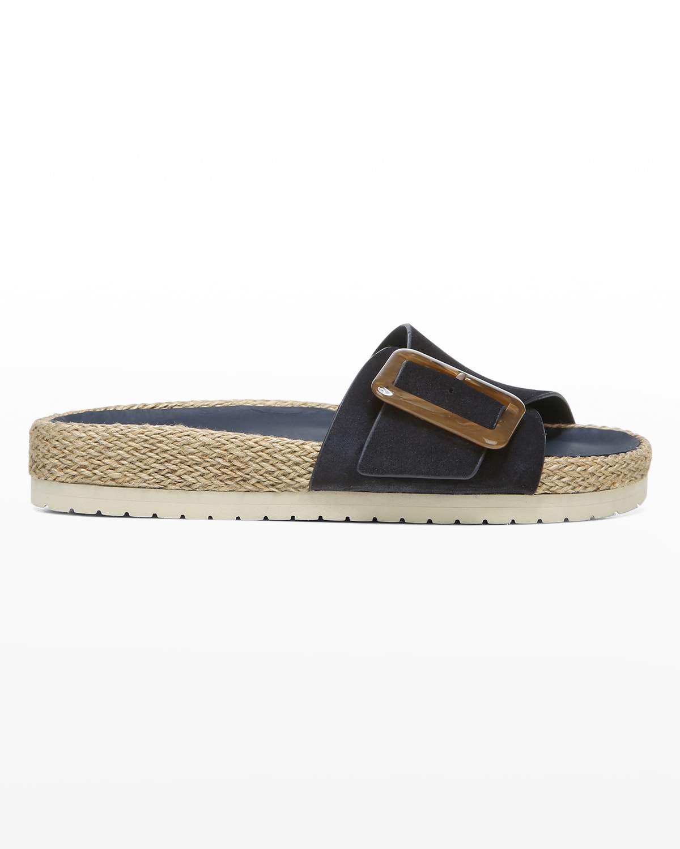 Grant Suede Buckle Espadrille Sandals