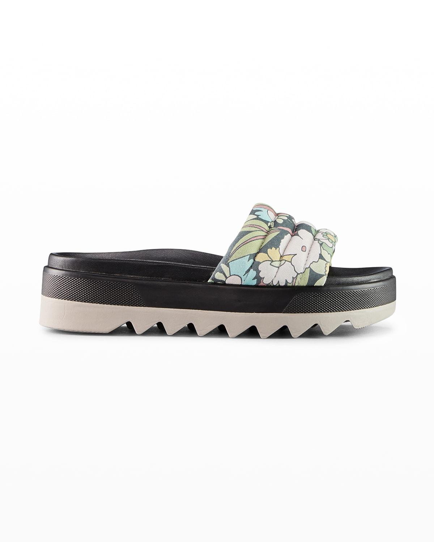 Prato Floral Flat Slide Sandals