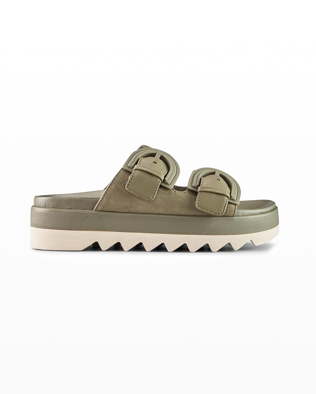 Pepa Floral Dual-Buckle Slide Sandals