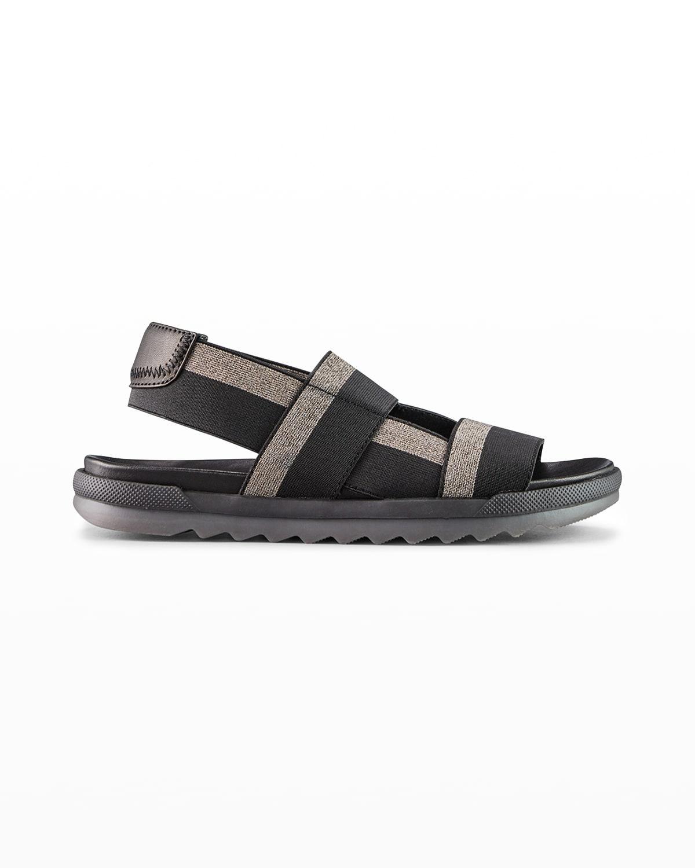 Lucia Bicolor Slip-On Sporty Sandals