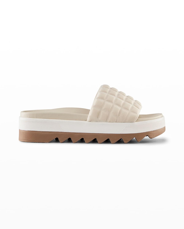 Perla Quilted Slide Sandals