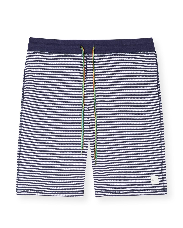 Men's Striped Drawstring Shorts