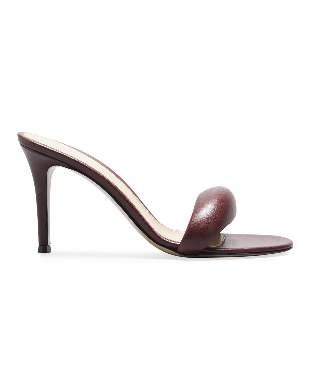 85mm Puffy Napa Mule Heel Sandals