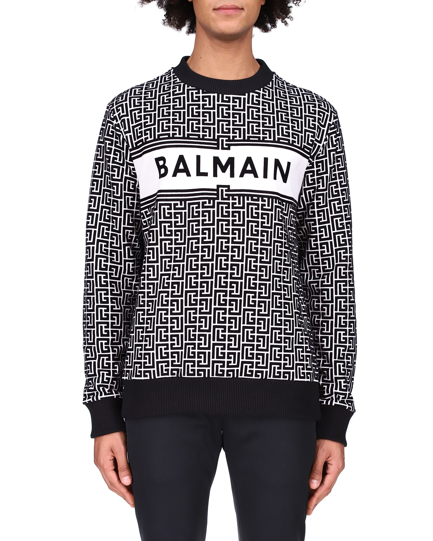 Men's Monogram Flocked-Logo Sweatshirt