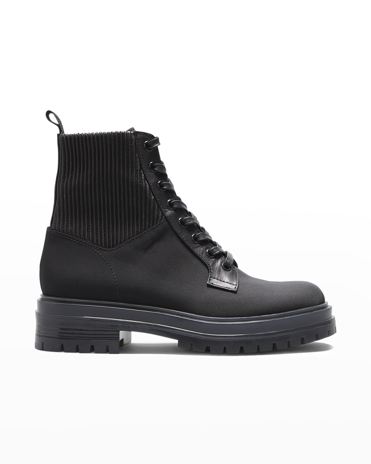 Martis Nylon/Leather Lace-Up Booties