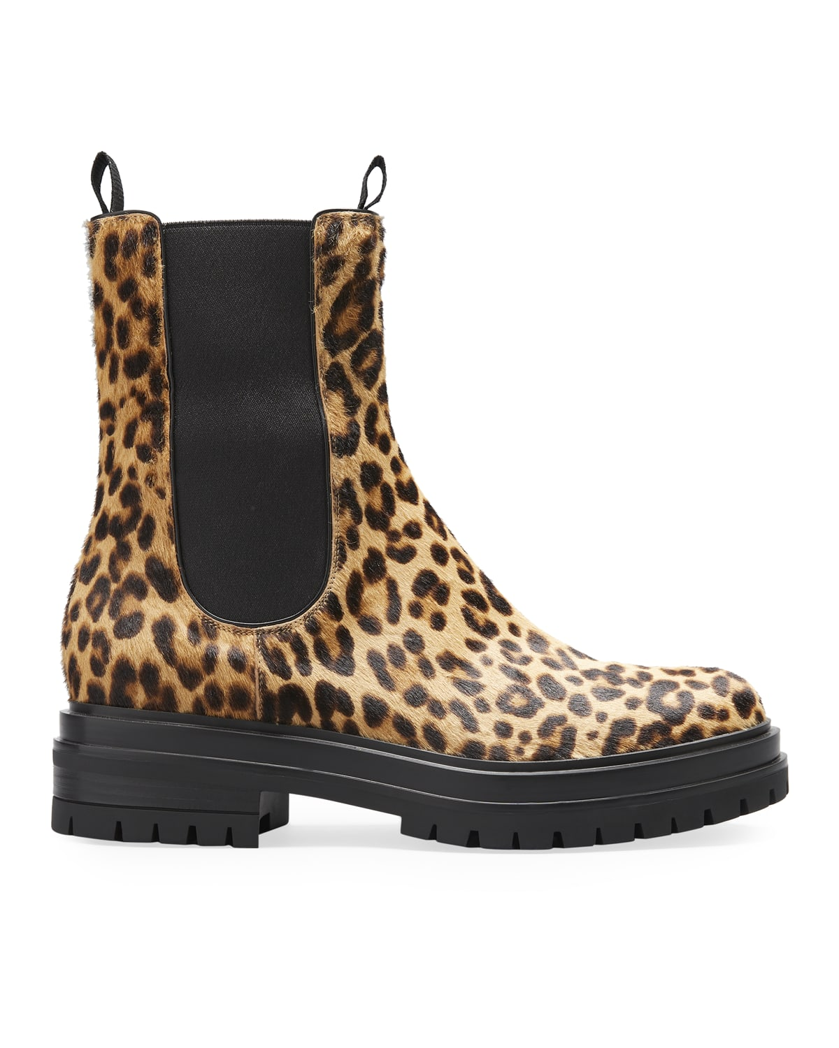Chester Leopard-Print Chelsea Booties
