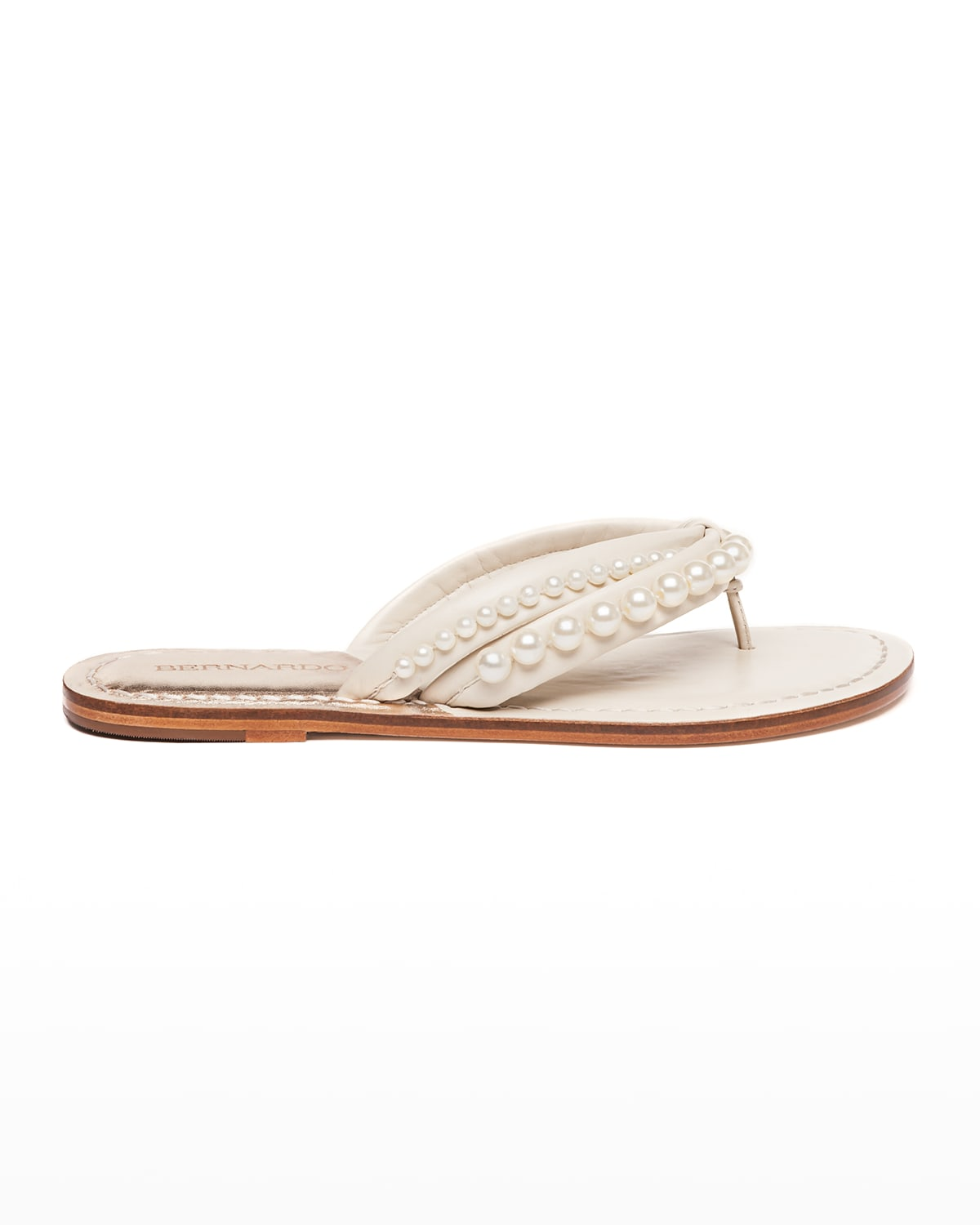Miami Pearly Stud Thong Sandals