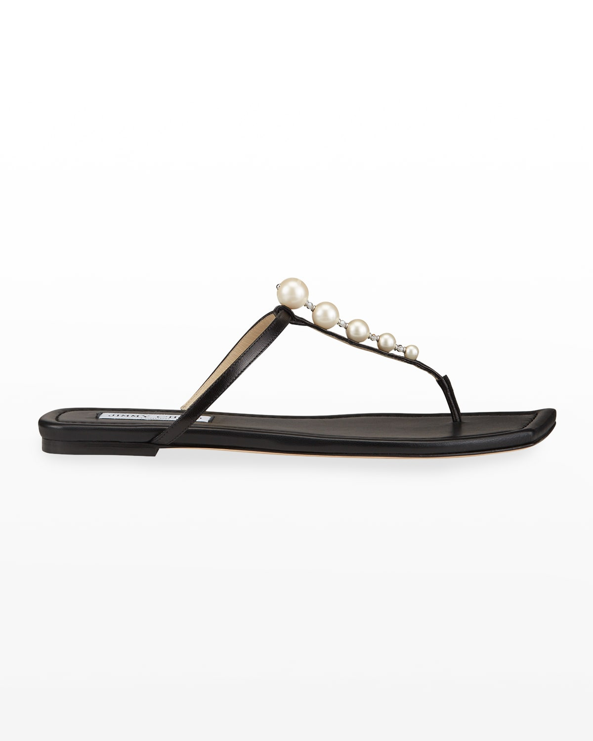 Alaina Pearly-Stud Thong Sandals