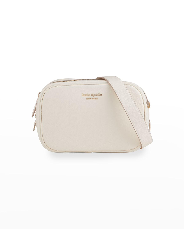 medium pebbled leather camera crossbody bag