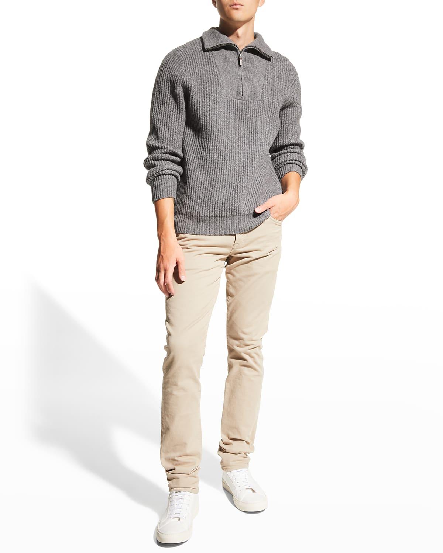 Men's 1/4-Zip Bib Sweater
